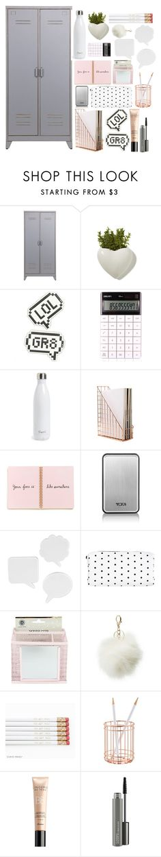 """""""locker"""" by alittlebitidiotic ❤ liked on Polyvore featuring interior, interiors, interior design, home, home decor, interior decorating, Anya Hindmarch, S'well, Tumi and Umbra"""