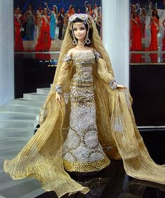 Miss-Saudi-Arabia-2013 Barbie... Not a big fan of Barbie anymore but wow this is really pretty!!!!