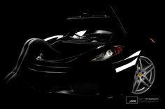 Krása Ženského Tela - Lambda (c) Matt Rybansky  bw color black and white art nude photography model luxury sport car ferrari | beauty of female body