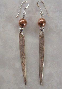 Silver Fork Tine Earrings Recycled Silverware by LTCreatesJewelry, $18.00