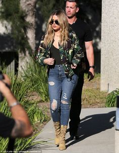 Sister in the studio: Khloe Kardashian looked great, keeping a low profile while leaving brother-in-law Kanye West's Calabasas studio Tuesday