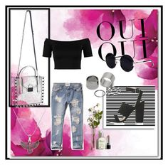 """I'm back"" by bobodream ❤ liked on Polyvore featuring Oui, Topshop, Una-Home, Abercrombie & Fitch, Miss Selfridge, Loeffler Randall, Pieces and Alex and Ani"