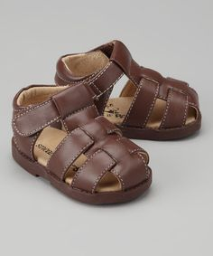 Sneak A' Roos Brown Fisherman Closed-Toe Sandal Closed Toe Sandals, Look Cool, Contrast, Dress Up, Take That, Pairs, Brown, Clothes, Sons