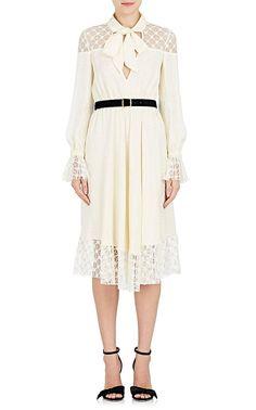 Womens Star-Print Tulle Midi-Dress Philosophy di Lorenzo Serafini AMnJOw