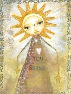 You Shine  Print by willowing on Etsy, £12.00