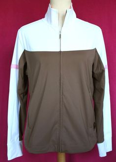 Get it at Bad Reputation! #Nike #Golf #FitDry #Brown #Pink #Workout #Running #Zippered #LightJacket -M 8 9 10 #NikeFitDry #BasicJacket #Jacket #NikeJacket #NikeGolf #SportJacket #RunningJacket #Comfort #zipUp #Sporty