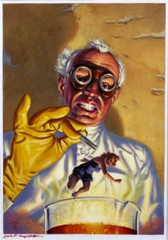 Joel F Naprstek - Science Fiction Age Magazine Cover Original Art Sovereign Media Company 1991 Art Science Fiction, Mad Science, Pulp Fiction, Art Pulp, 70s Sci Fi Art, Horror Artwork, Sci Fi Horror, Horror Comics, Pulp Magazine