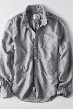 AE Heathered Oxford Shirt