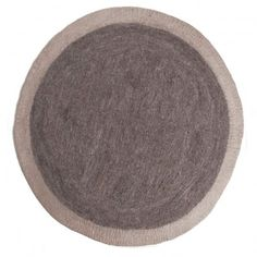 Lumbini felt carpet - grey and taupe  Muskhane
