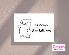 Halloween Doodle, Halloween Quotes, Halloween Cards, Halloween Costumes, Belated Birthday Card, Funny Birthday Cards, Birthday Greeting Cards, Blog Planner Printable, Printable Cards
