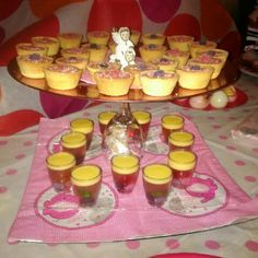Wine glass tray with jelly cups and chocolate cookie cups