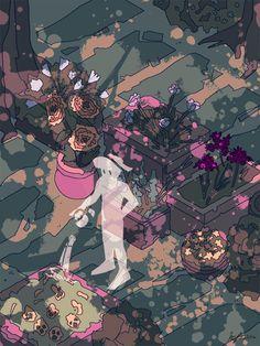 all credits to artist! Art And Illustration, Illustrations, Kunst Inspo, Art Inspo, Anime Kunst, Anime Art, Pretty Art, Cute Art, Character Art