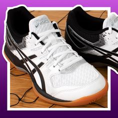 Womens Volleyball Shoes ASICS Gel Rocket 9 White and Black