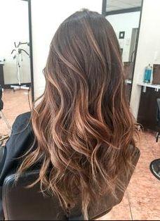 brown hair balayge