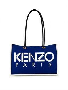 Kenzo Bi-colour Canvas Tote