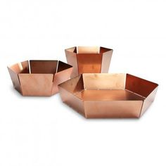 2D:3D Small Bowl Modern Decorative Bowls, Aunt Birthday, Desert Design, Copper Decor, Large Bowl, Small Bowl, Contemporary Home Decor, Welding Projects, Design Crafts