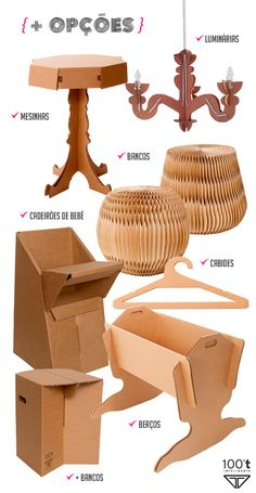 The whole charm of the sustainable furniture. #Cardboard #furniture #sustainable #decor #interior #design #casadevalentina