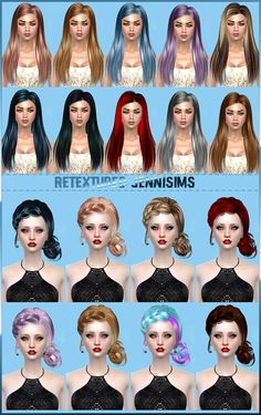 "sssvitlans: "" Downloads sims 4: Butterflysims Hair 092, 143 retextured by Jennisims Download """