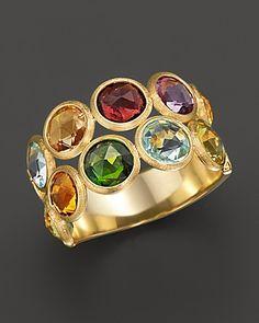 Marco Bicego Jaipur 2 Row Multi-stone Ring | Bloomingdale's