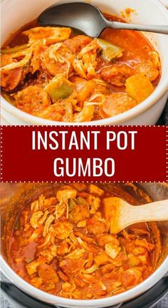 This healthy Instant Pot Gumbo is one of the easiest pressure cooker recipes: a dump-and-go recipe. Chicken and sausage along with vegetables and spices are added to the pot, and you can substitute with seafood like shrimp if you prefer. This easy Instant Pot Gumbo Recipe, Instant Pot Dinner Recipes, Chicken Gumbo Recipes, Recipe Chicken, Chicken Flavors, Easy Pressure Cooker Recipes, Instant Pot Pressure Cooker, One Pot Meals, Keto