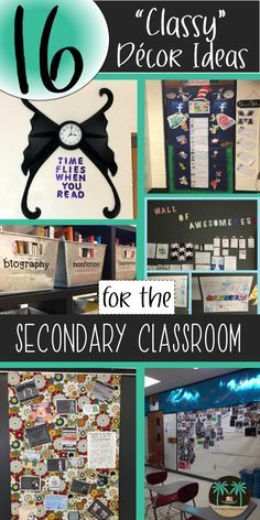 Middle and high school teachers share 16 inspirational ideas for secondary classroom decorations. Create a meaningful, intentional, effective, and age-appropriate learning environment and classroom culture for your students.