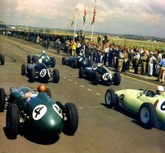 The British F1 Grand Prix at Aintree in Liverpool 1959