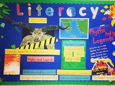 Myths and legends display board Classroom Ideas, Literacy, Legends, English, Display, Teaching, Writing, School, Spring