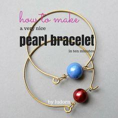 DIY Wire Pearl Bracelet Tutorial