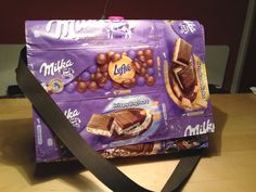 Milka candy wrapper bag