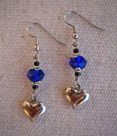 Charming Blue Heart Earrings