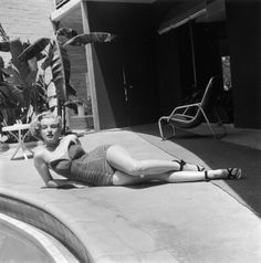 Marilyn at the Beverly Carlton Hotel. Photo by Phil Burchman, 1951.