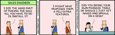 Dilbert on Sales: Might have promised a few extra features