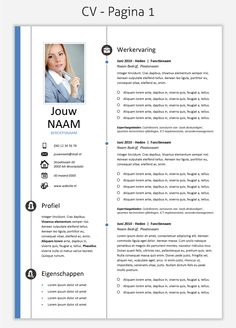CV template 260 om te downloaden