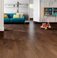 Natura Oak Ironbark Greenwood is a stunning example of a rustic country-home floor. With a grain that's full of character and features, and a surface that's been brushed to bring out the natural texture, no two boards are the same. Each extra-wide board is a whopping 20mm thick, with microbevelled edges which help accentuate the impressive dimensions without becoming a dust-trap. Engineered Wood Floors, Natural Texture, Engineering, Kids Rugs, Flooring, Rustic, Surface, Boards, Country