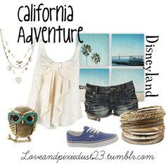 "California Adventure Disneyland Outfit<3""Disneyland outfit for spring break"