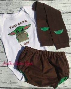The Mandalorian Baby Boys Outfit, Newborn Infant Boys Baby Yoda Outfit Nerd Outfits, Star Wars Outfits, 1st Birthday Outfits, 2nd Birthday, Halloween Birthday, Cake Smash Outfit Boy, Girls Coming Home Outfit, Football Outfits, Baby Bloomers