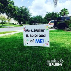 Here's another one I made! I just know this little lawn sign is going to be a game changer! (For parents and students!) Imagine how proud you'd be to have this sign in your yard! 😍 This one is not as specific as the multiplication one and could be used for anything! #igetmoreexcitedthanthekids #cantwait #braggingrights #mondaymadeit