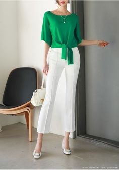 Korean Women`s Fashion Shopping Mall, Styleonme. Casual Chic, Casual Wear, Elisa Cavaletti, Office Outfits, Mode Style, Blouse Designs, Blouses For Women, Knitwear, Fashion Dresses