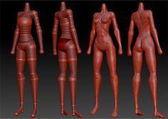 Zsphere Zbrush Woman body