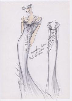 croquis haute couture - Recherche Google