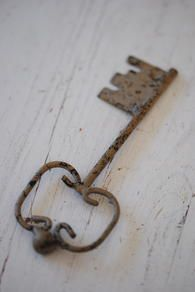 lovely old key - wonder what it used to open?