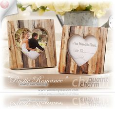 """Wedding Favors Bridal Favors Party Favors """"Rustic Romance""""Faux-Wood Heart Place Card Holder/Photo Frame Favors Gifts - 74% OFF - 25111NA - Cheap Wedding Favors - Cheap Bridal Shower Favors - Cheap Party Favors - http://www.warmimpressions.com/WEDDING_FAVORS/Rustic-Romance-Faux-Wood-Heart-Place-Card-Holder-Photo-Frame-Favors-kate-aspen-25111NA.html"""