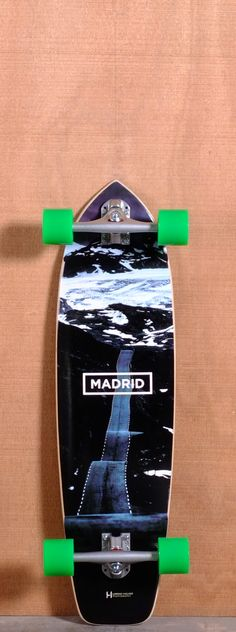 "The Madrid Road Longboard Complete is designed for Cruising, Carving and Freeride. Ships fully assembled and ready to skate!  Function: Cruising, Carving, Freeride  Features: Rocker, Mild W Concave, Mellow Kick Tail, Slight Upturned Nose, Sanded Wheel Wells  Material: 11 Ply Maple  Length: 34.25""  Width: 9.125""  Wheelbase: 22.375""  Thickness: 1/2""  Hole Pattern: New School  Grip: Black"