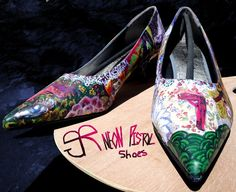 Painted High Heels by BRGproductions on Etsy, $120.00