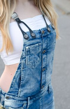 Overalls with braces