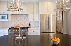 White Kitchen Design. Crisp White Kitchen. #WhiteKitchen