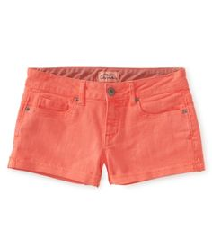 Coral Denim Shorty Shorts from Aéropostale
