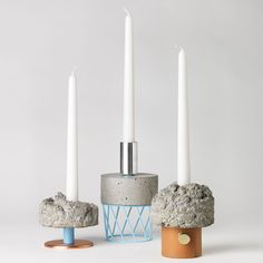 Stockholm designer David Taylor sees his latest series of candlesticks as a crowd of friends that changes over time when some of them are bought and others are made to replace them.