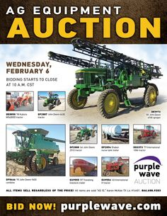 Purple Wave Auction (@purplewave) on Twitter Heavy Duty Trucks, Used Equipment, Used Trucks, Sale Promotion, Online Marketing, Tractors, Monster Trucks, Auction, Waves
