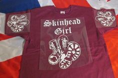 Skinhead Girl Boots . its a Way of Life .  MAROON  #Unbranded